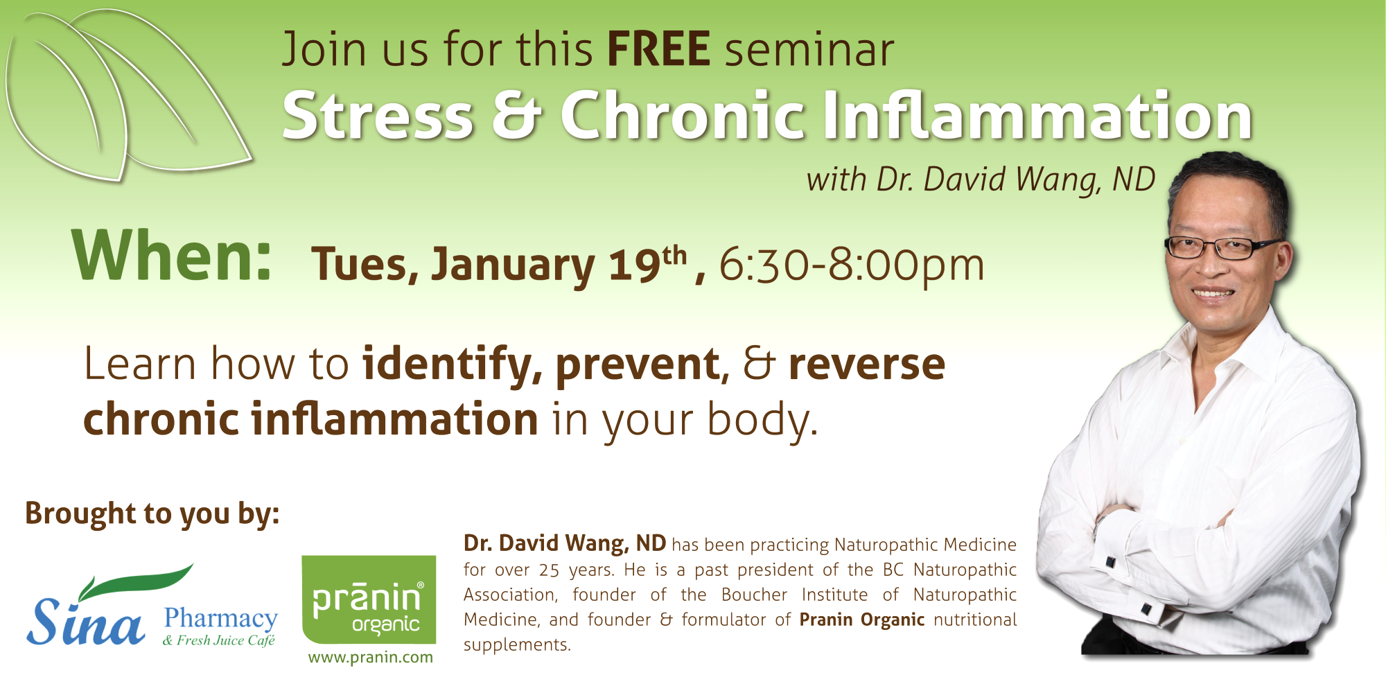 Sina Pharmacy - Stress & Chronic Inflammation Event