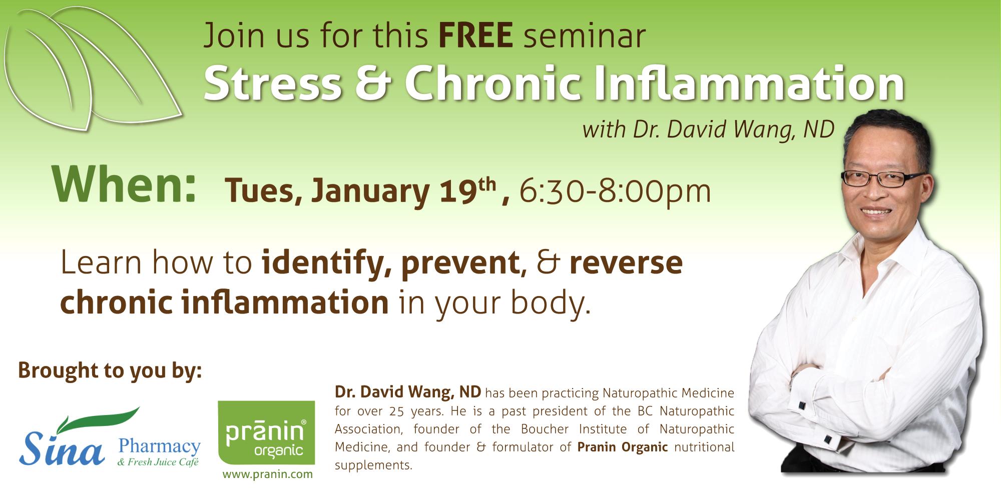 Sina Pharmacy - Stress & Chronic Inflammation Event